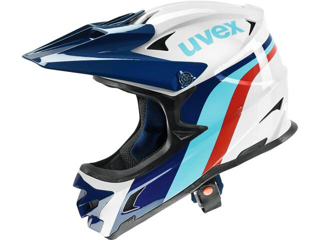 UVEX hlmt 10 Bike Helmet white-blue
